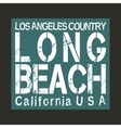 Long Beach California vector image