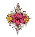 Lotus Paisley Henna Design vector image vector image