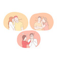 love hate and different emotions in couple vector image vector image