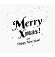 Merry xmas vintage black and white vector image vector image