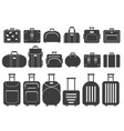 monochrome pictures suitcases and vector image