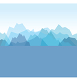 mountains blue vector image vector image