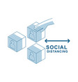 move crowds people box social distancing template vector image vector image