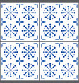 portuguese tile pattern lisbon seamless in vector image vector image