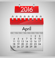 realistic calendar with red hard cover vector image vector image