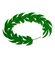 royal green laurel icon isometric style vector image