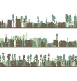set of horizontal childish banners of built home vector image vector image