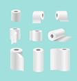 set of realistic paper rolls vector image vector image