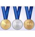 set of sportive award medals vector image