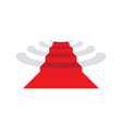 simple red carpet design vector image
