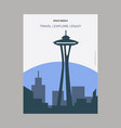 space needle seattle washington vintage style vector image