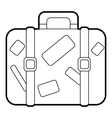 Suitcase icon outline style vector image vector image