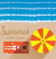 Summer Woman with Bikini Sunbathe on the Beach vector image vector image