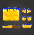 Sweet cartoon user interface games-10 vector image vector image