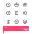 tire icon set vector image vector image