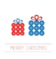 Two gift boxes made from buttons Appligue Dash vector image vector image