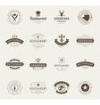 Vintage Restaurant Logos Design Templates Set vector image vector image