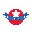 vote word in ribbon frame usa elections flat style vector image vector image
