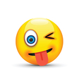 winking tongue out emoji vector image vector image