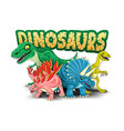 with funny dinosaurs vector image vector image