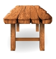 wooden table on a white background vector image