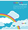 background with rainbow and clouds vector image