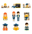 Students and children study in class room vector image