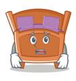 afraid cute bed character cartoon vector image