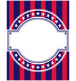 american flag symbols round frame card vector image vector image