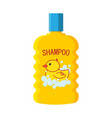 baby shampoo bottle logo duckling vector image