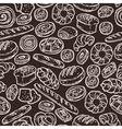 Bakery Sketch Pattern On Chalkboard vector image