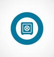 bank safe bold blue border circle icon vector image