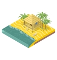 Beach real estate House with palm trees vector image vector image