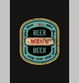 beer menu design with retro beer label vector image vector image