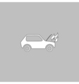 Car fired computer symbol vector image vector image