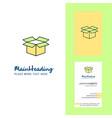 carton creative logo and business card vertical vector image vector image