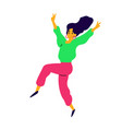 cheerful dancing girl a laughing young woman vector image vector image