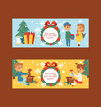 christmas 2019 happy new year greeting card vector image vector image