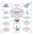 Christmas Calligraphic Retro Design Elements vector image vector image