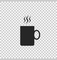 coffee cup flat icon tea cup hot drink coffee vector image vector image