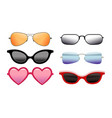 collection colorful sunglasses different vector image vector image