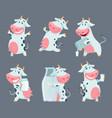 cow cartoon cute farm milk animal character