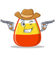 Cowboy candy corn character cartoon