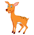 cute deer cartoon for you design vector image