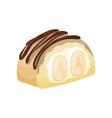 delicious dessert with banana and caramel cartoon vector image vector image