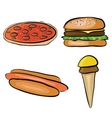 doodle fastfood vector image