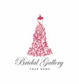 dress boutique bridal logo template vector image vector image