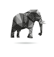 Elephant abstract isolated vector image vector image