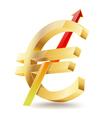 euro golden symbol vector image