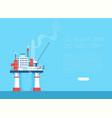 flat oil platform oil industry vector image vector image